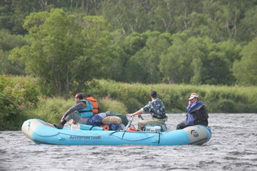 Fishing trip - rafting, Kamchatka